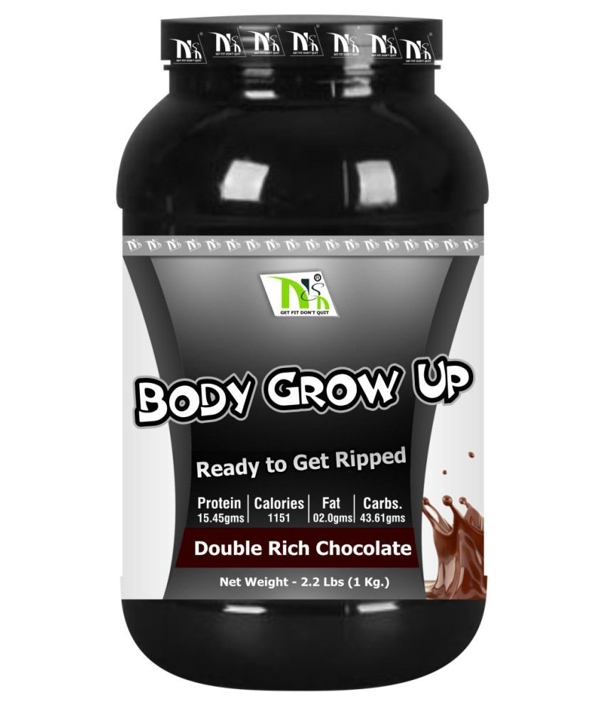 NSN Body Grow Up 1 kg Weight Gainer Powder Single Pack