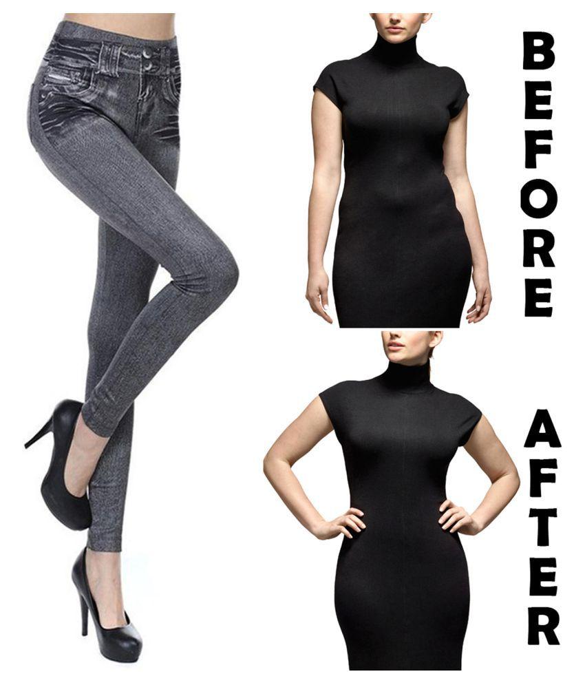SJ Jeans Size S-M  Weight Loss Slim Pants High Waist Hip Thigh Shaper Trimmer Belt