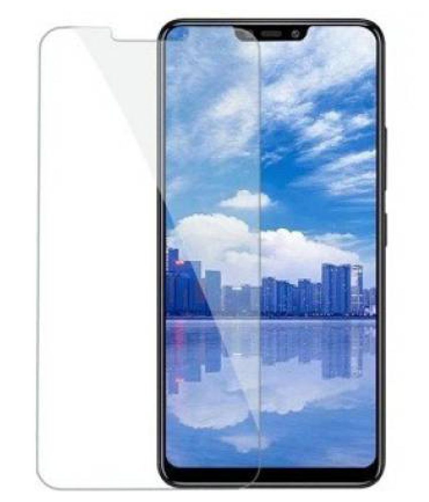 Vivo Y81i Tempered Glass Screen Guard By GLAZE Full Glue with Precise Curve Edges