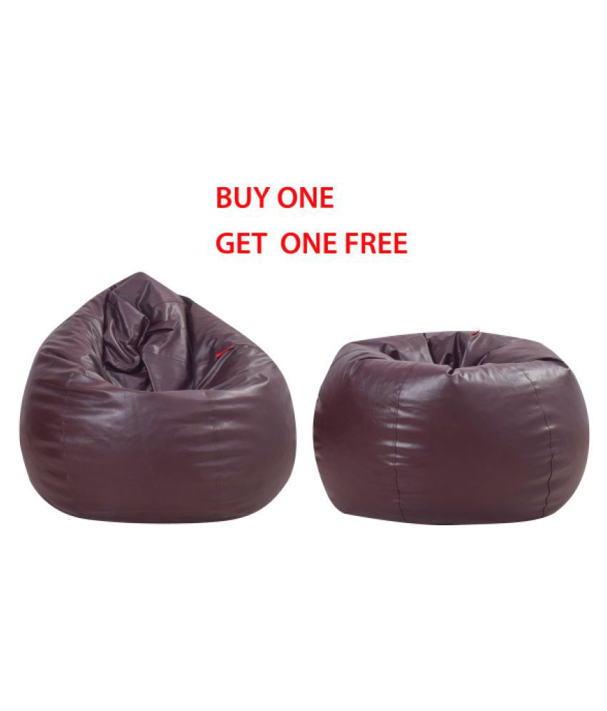 Cool Couchette Large Bean Bag Cover Buy One Get One Free Dark Brown Uwap Interior Chair Design Uwaporg