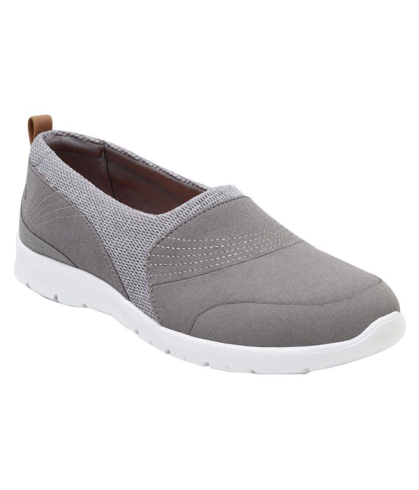 Clarks Gray Block Heels