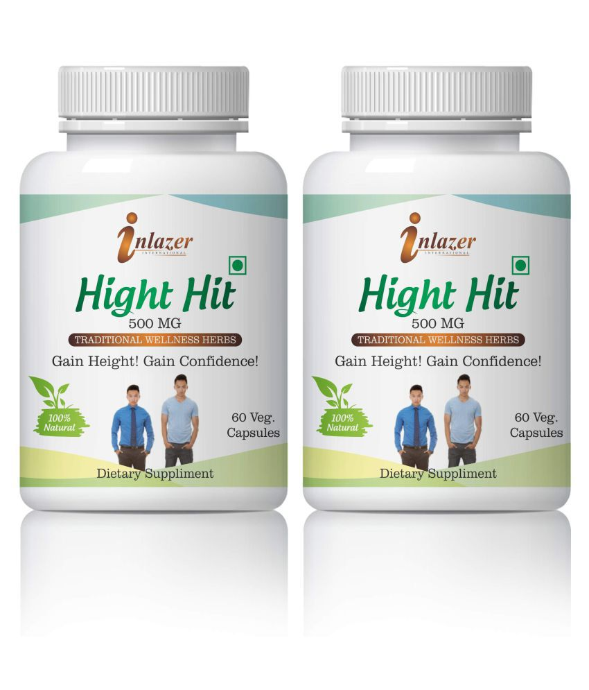 Inlazer Hight Hit Gain In Hight & Confidence Capsule 500 mg Pack Of 2