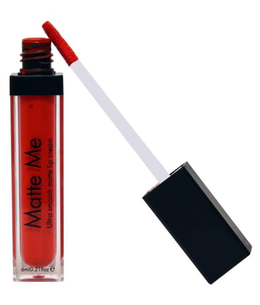 Incolor Matte Me Lip Gloss, 404, Liquid Lipstick Red 6 mL