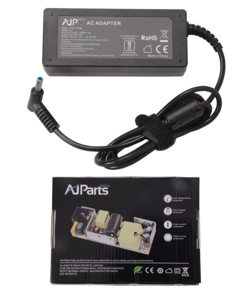 AJP India Laptop adapter compatible For HP 15-D008SX 65W PSU Battery Charger - Sold By AJ Parts India