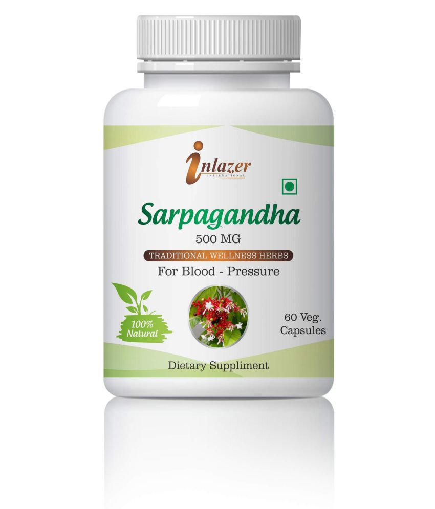 Inlazer Sarpagandha Help B.P & Mental Alertness Capsule 500 mg Pack Of 1
