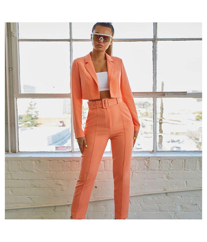 CLOTHELLA Polyester Peach Regular Dress