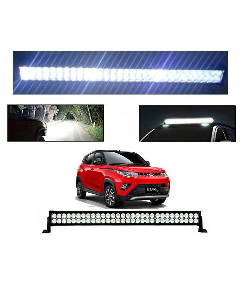Trigcars Mahindra KUV 100 Bar Light Fog Light 32Inch 120Watt