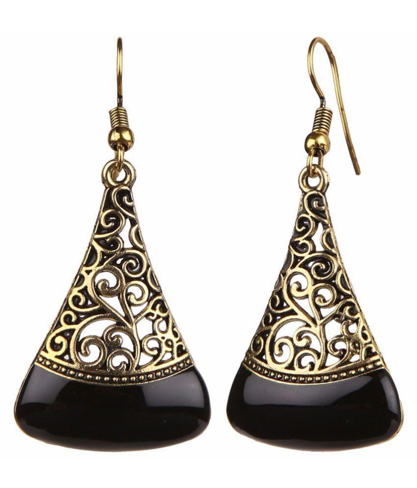 Zeneme Oxidised Stylish Fancy Party Wear Dangler Earrings Jewellery for Girls & Women