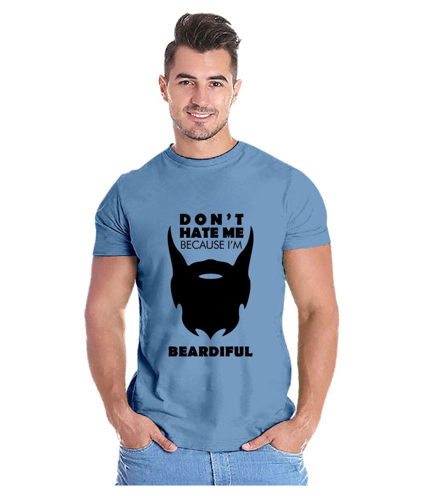 Capsula Tees 100 Percent Cotton Blue Printed T-Shirt