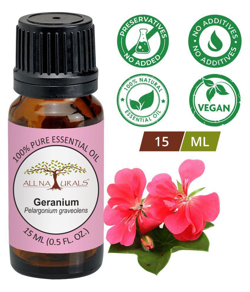 All Naturals Geranium Essential Oil 15 mL