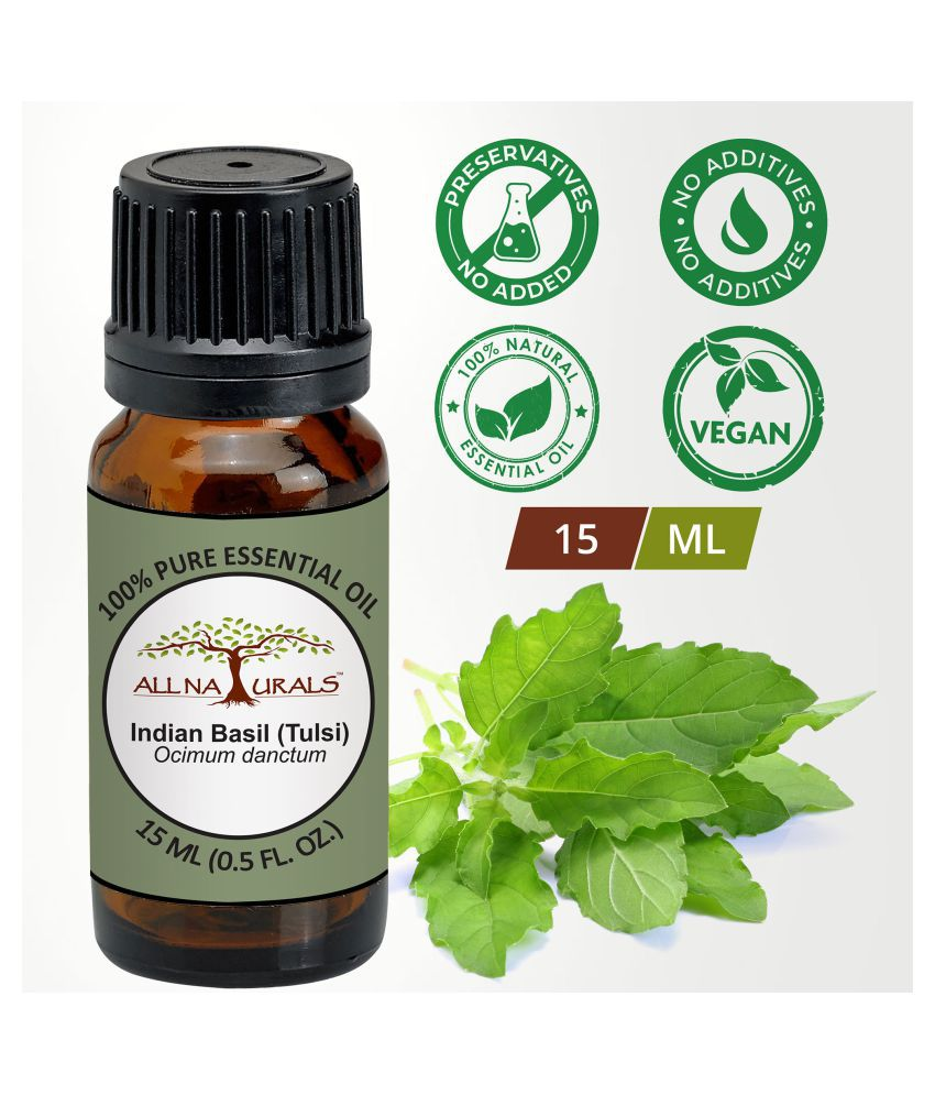 All Naturals Indian Basil (Tulsi) Essential Oil 15 mL