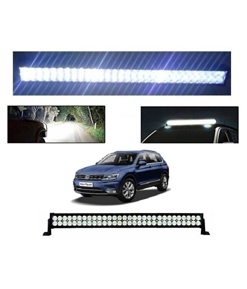 Trigcars Volkswagan Tiguon Bar Light Fog Light 32Inch 120Watt