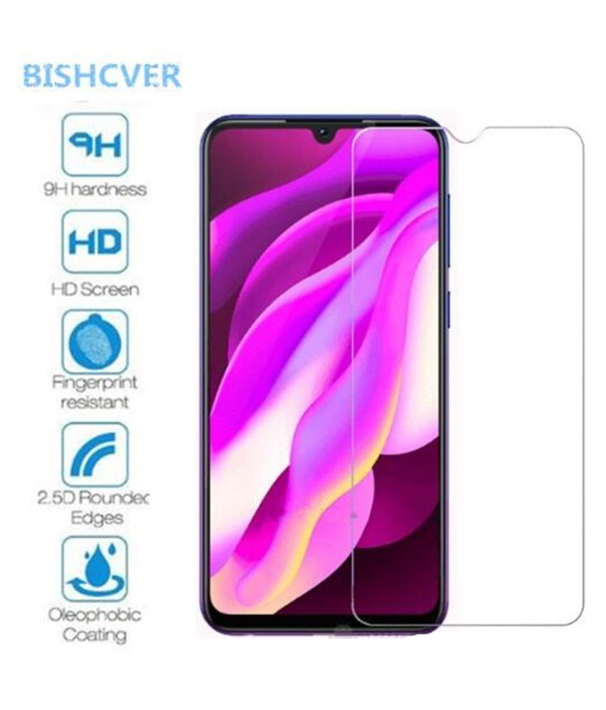 Vivo Y93 Tempered Glass Screen Guard By GLAZE Full Glue with Precise Curve Edges