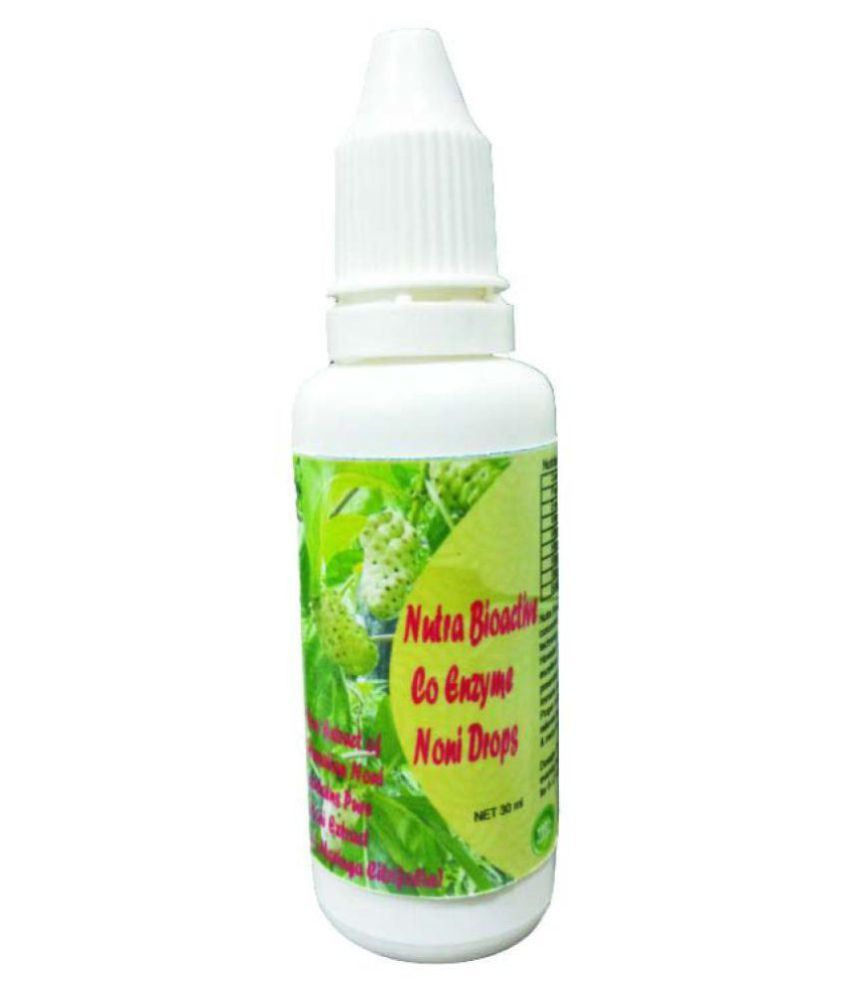 hawaiian herbal Nutra bioactive co enzyme noni drops-Get Same Drop Free, Detox Foot Pads & Anti-Radiation Mobile Chip/Sticker Free      30 ml Minerals Syrup