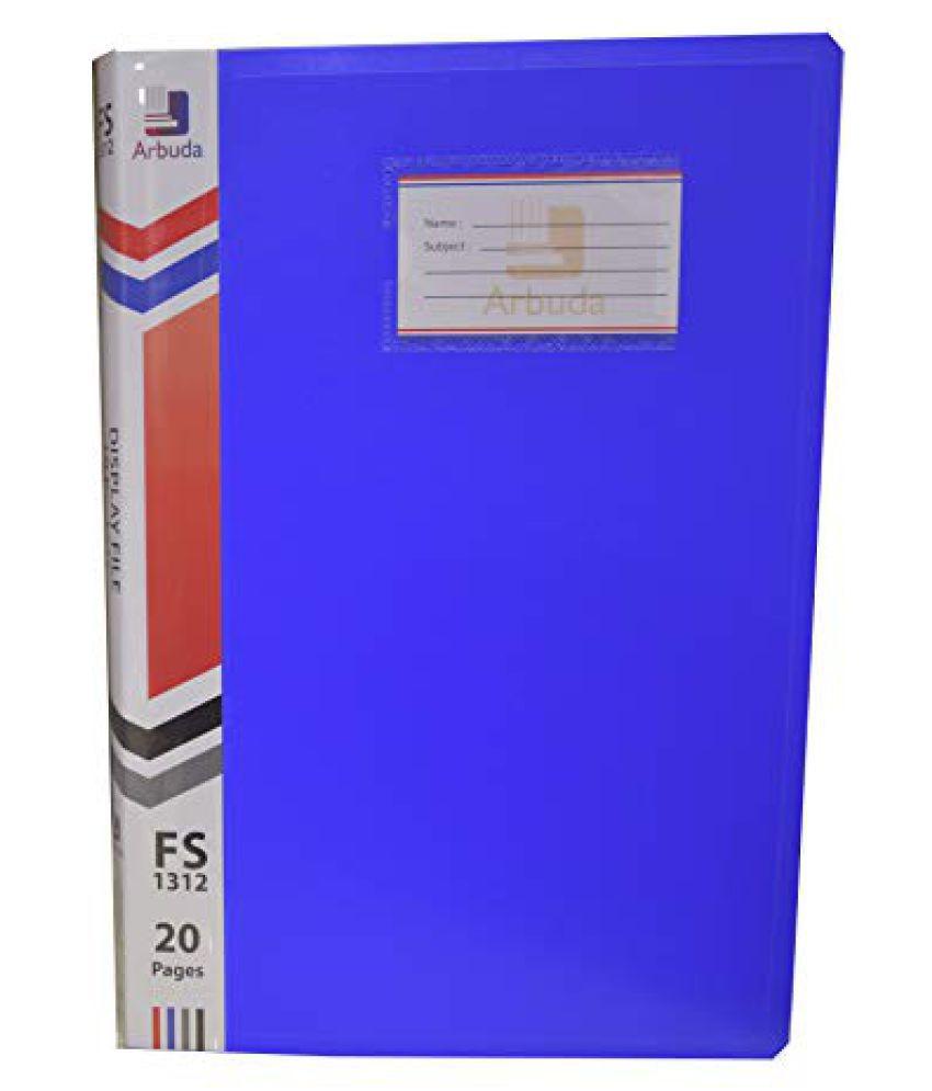 Display Book Arbuda Clear Folder Plastic File Display Presentation File 10 Pockets Blue Colour F/S Qty 1 No