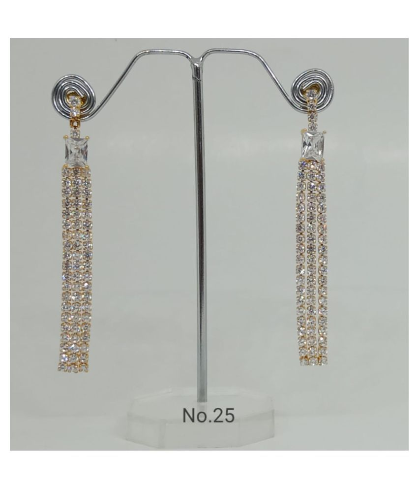 Indian Designer American Diamond Gold And Rose Gold Earrings Buy Indian Designer American Diamond Gold And Rose Gold Earrings Online At Best Prices In India On Snapdeal