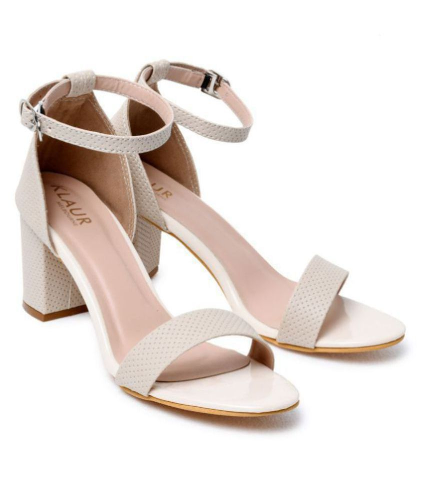 Klaur Melbourne Cream Block Heels