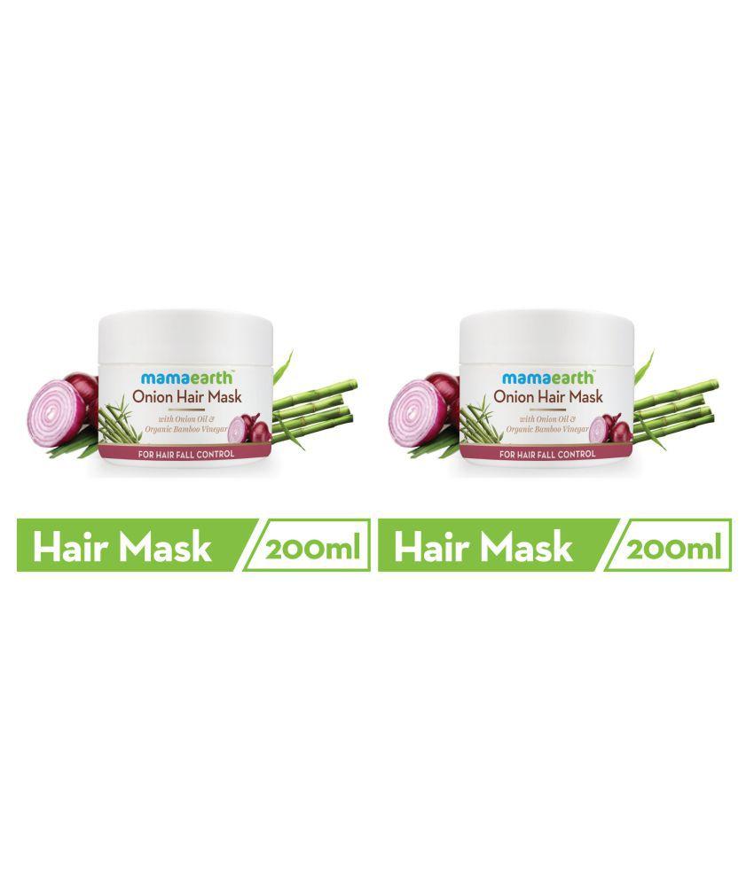 Mamaearth's Onion Hair Mask For Dry & Frizzy Hair,With Onion & Organic Bamboo Vinegar\n200ml and's Onion Hair Mask For Dry & Frizzy Hair, Controls Hairfall and Boosts Hair Growth, With Onion & Organic Bamboo Vinegar\n200ml
