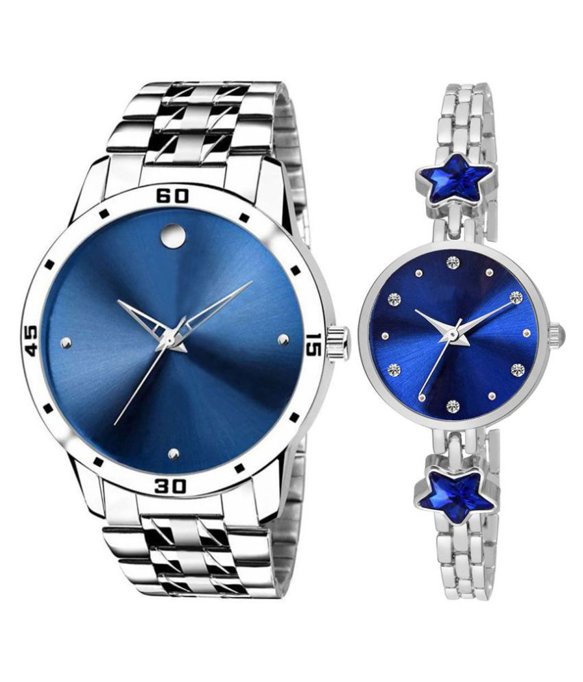 Selveen enteprise Blue Dial  New Stylish Couple Watch For Men And Women DR298