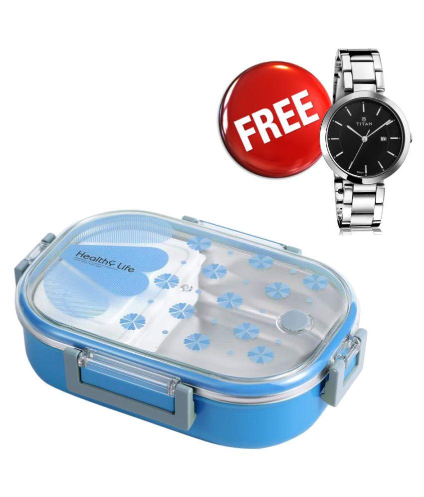 SKYLARK Blue Lunch Box