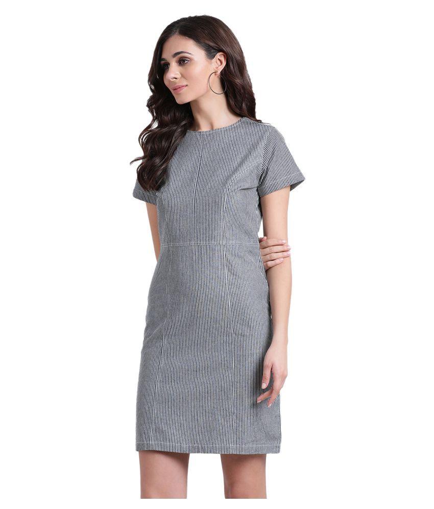 Aayna Cotton Blue Shift Dress