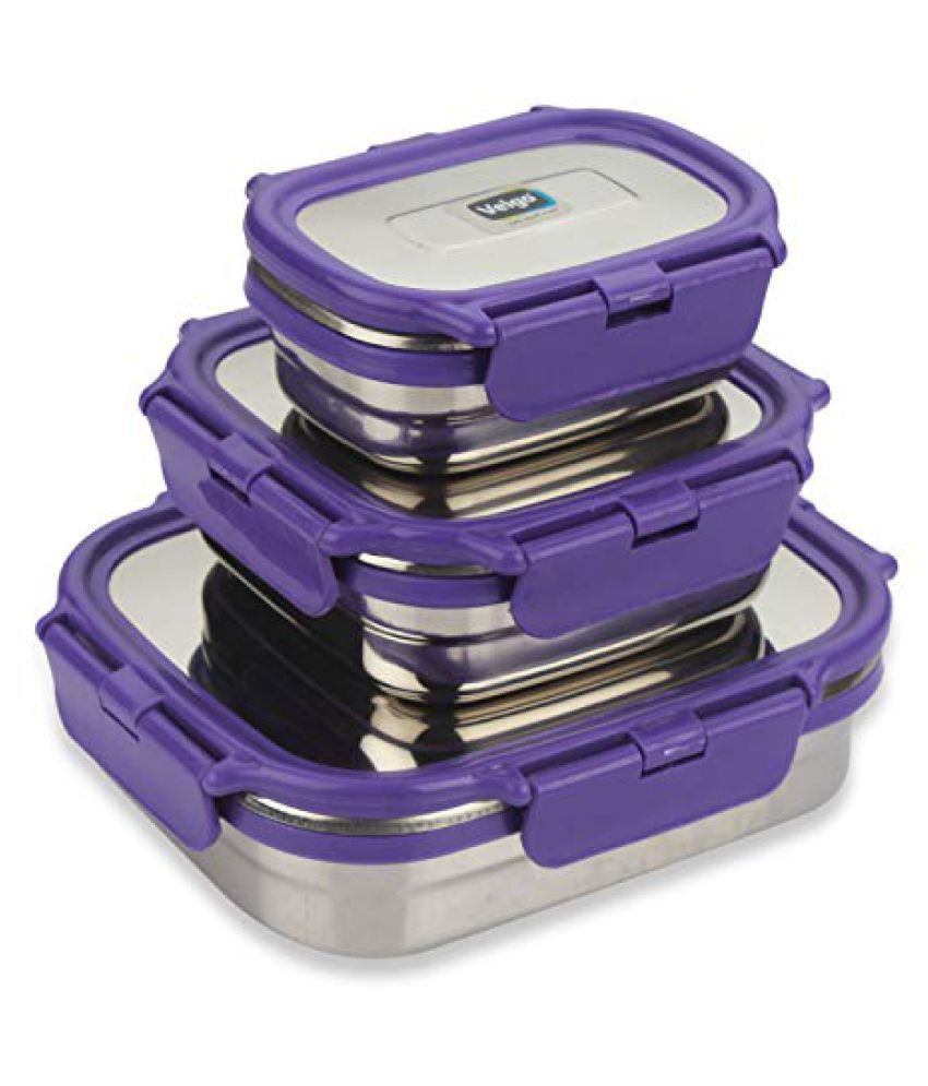 Veigo Purple Stainless Steel Lunch Box