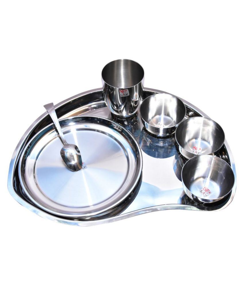 Yash Stainless Steel Dinner Set of 7 Pieces