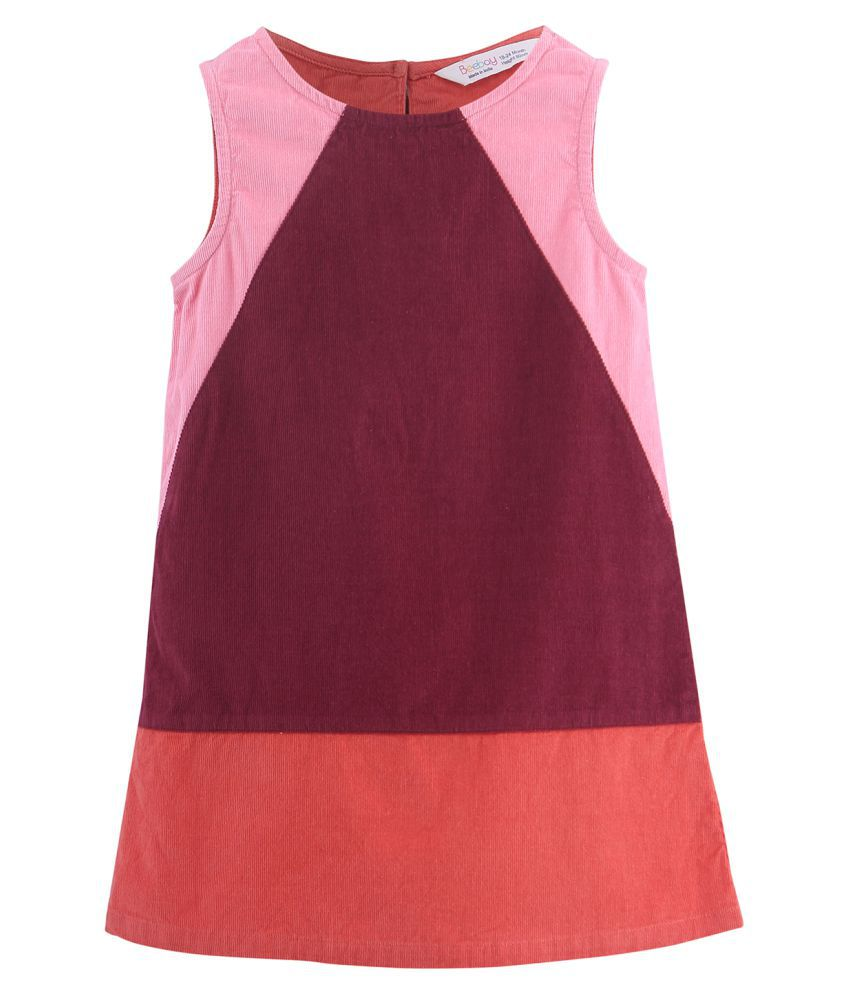 Colorblock A-Line Dress Multi-col 9-12M