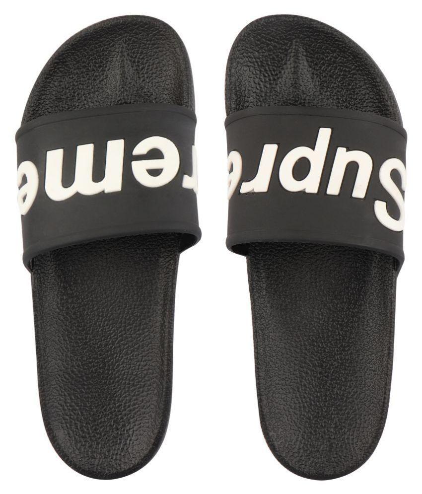 Do Bhai Black Slide Flip flop