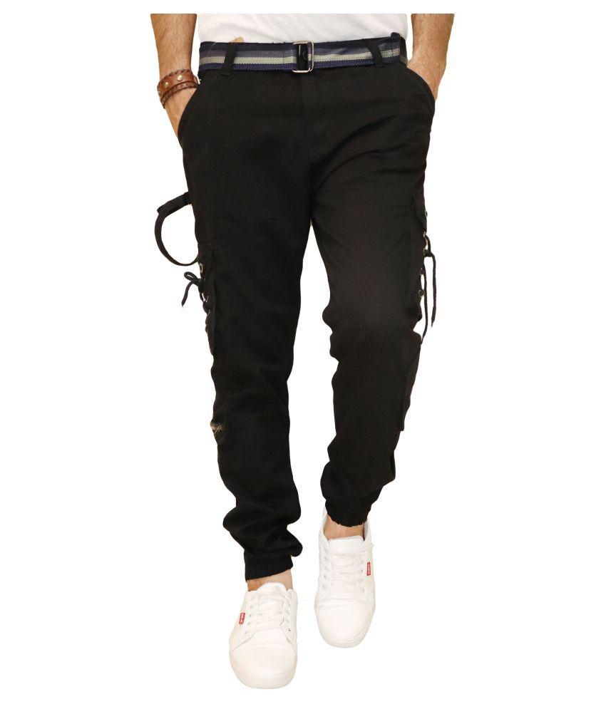 POOL CLUB Black Slim -Fit Pleated Trousers