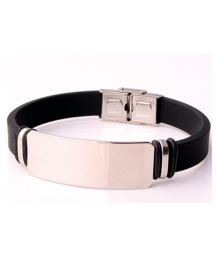 PAY 1PC Black Stainless steel Motion Fashion Jewellery Men's Bracelets