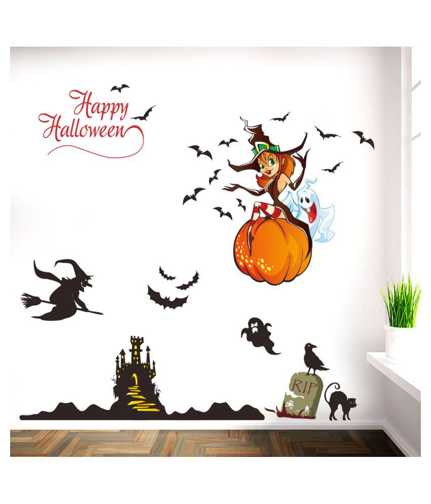 Halloween Background Wall Decoration Removable Wall Stickers