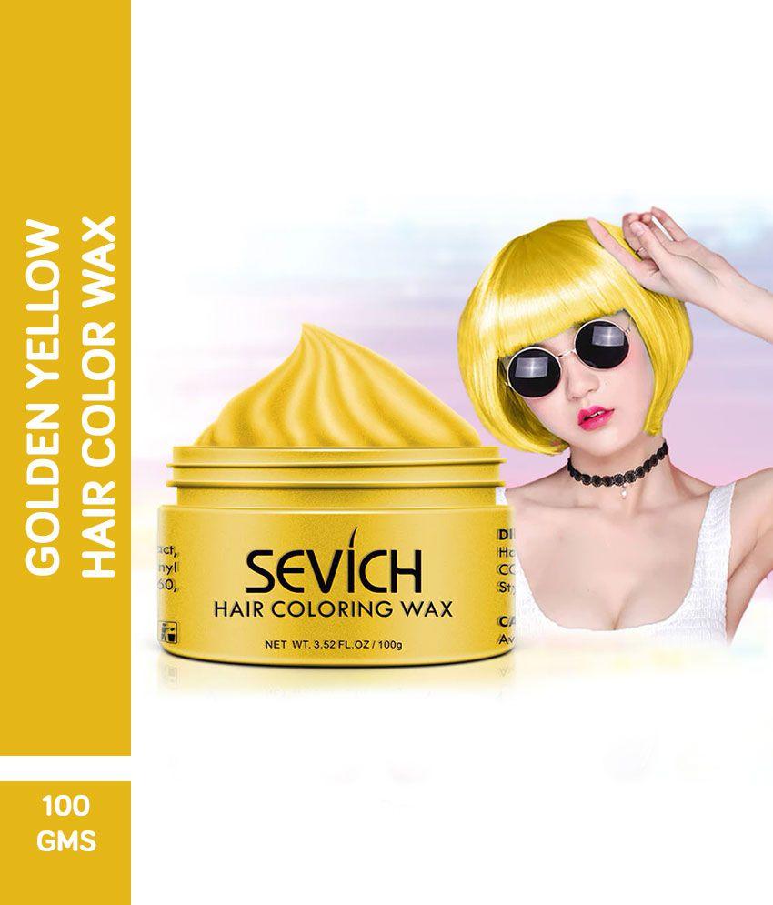 AuraSkin Golden hair color wax golden hair color wax Temporary Hair Color Golden Blonde golden 100 g