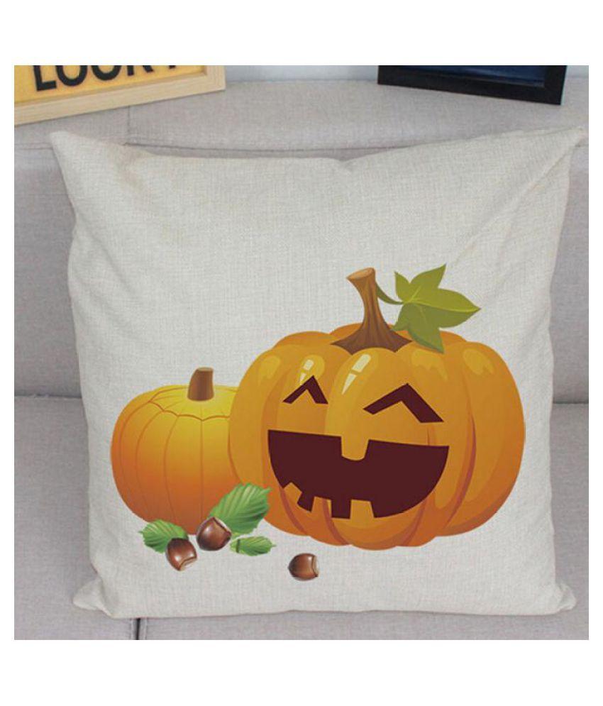 New Halloween Pumpkin Square Pillow Cover Cushion Case Zipper Closure Pillowcase