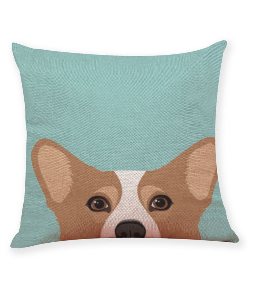 Home Decor Cushion Cover Cute Dog Head Throw Pillowcase Pillow Covers