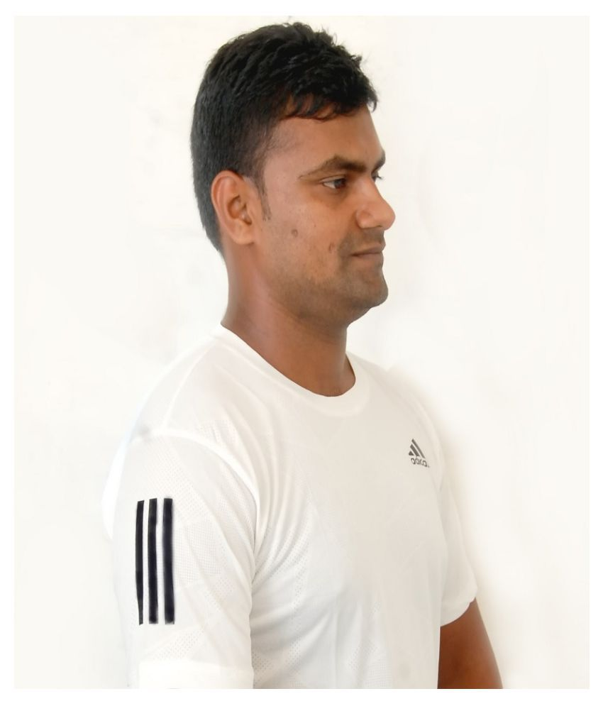 Adidas99 Rayon White Printed T-Shirt