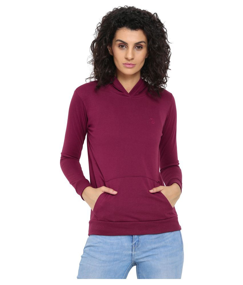 CHKOKKO Poly Cotton Sports Full Sleeve Sweatshirt Hoodies for Women