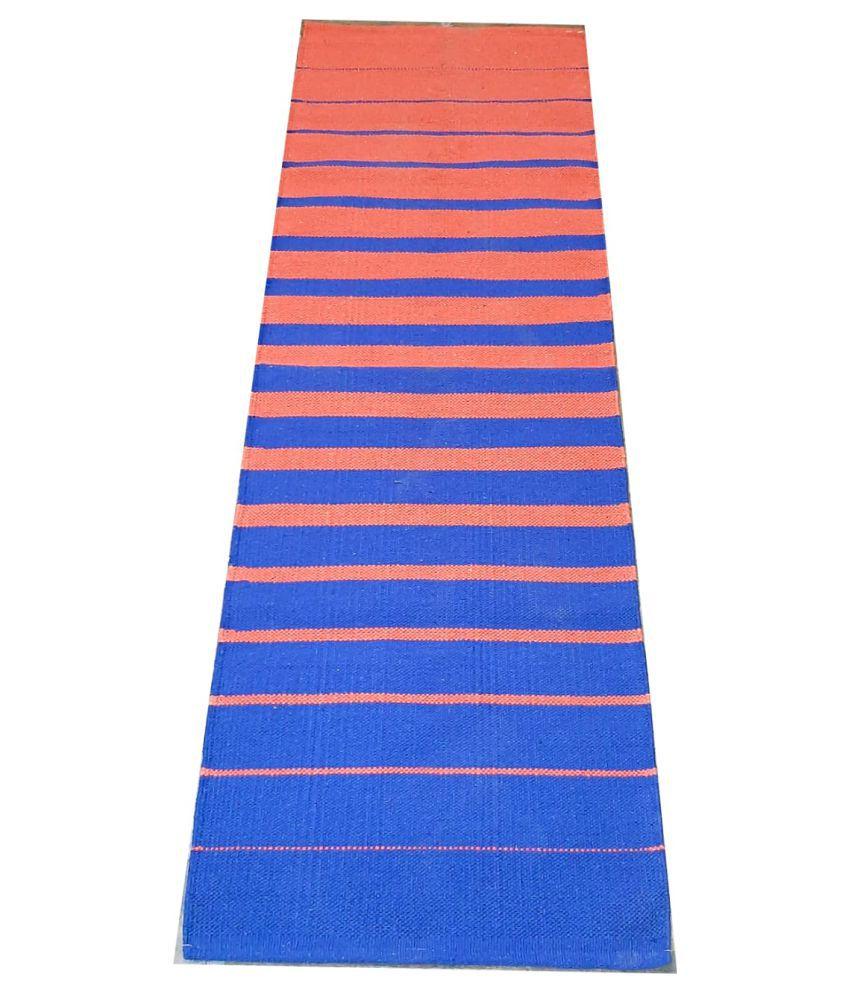 SRJ Handicraft Multi Runner Single Cotton Stripes 2x6 Ft