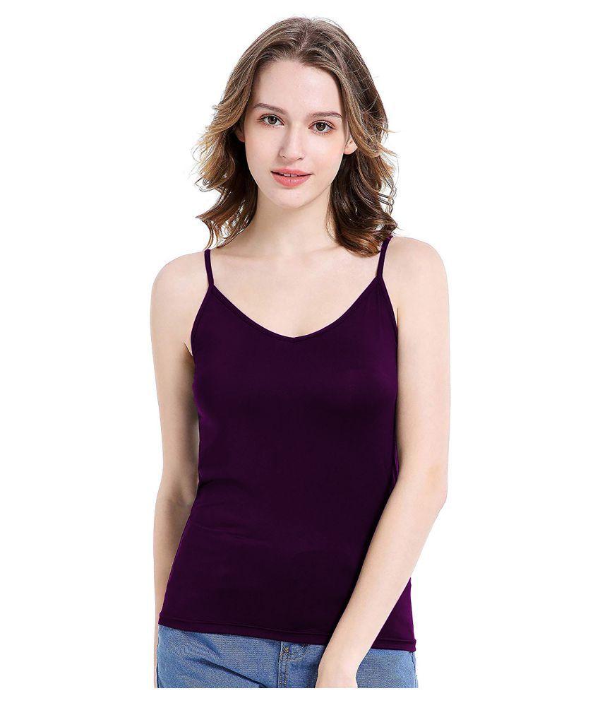 THE BLAZZE Cotton Camisoles - Purple