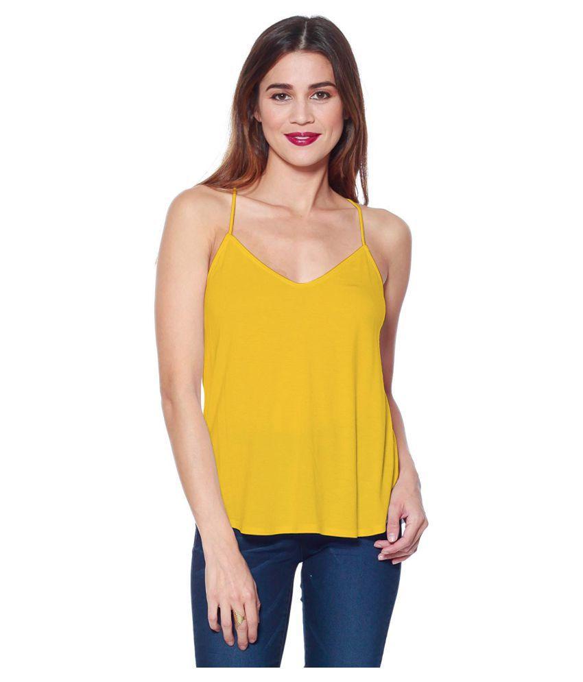 THE BLAZZE Cotton Camisoles - Yellow