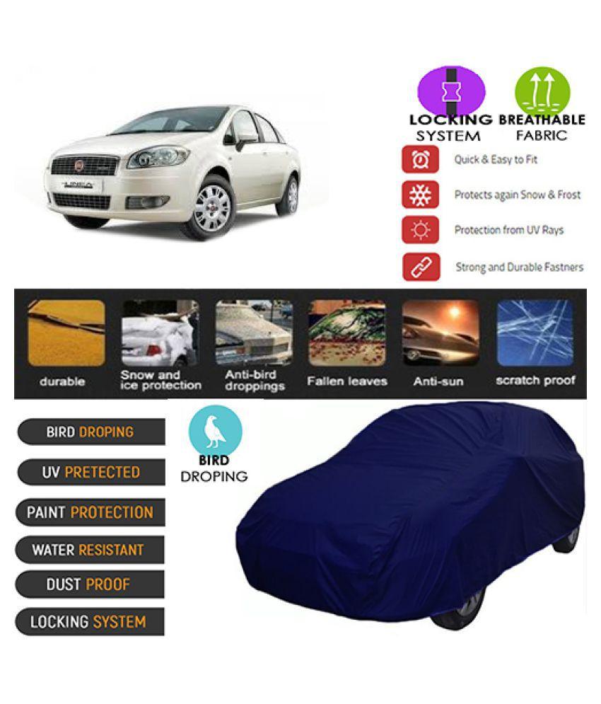 Goldkart Car Body Cover for Fiat Linea Blue