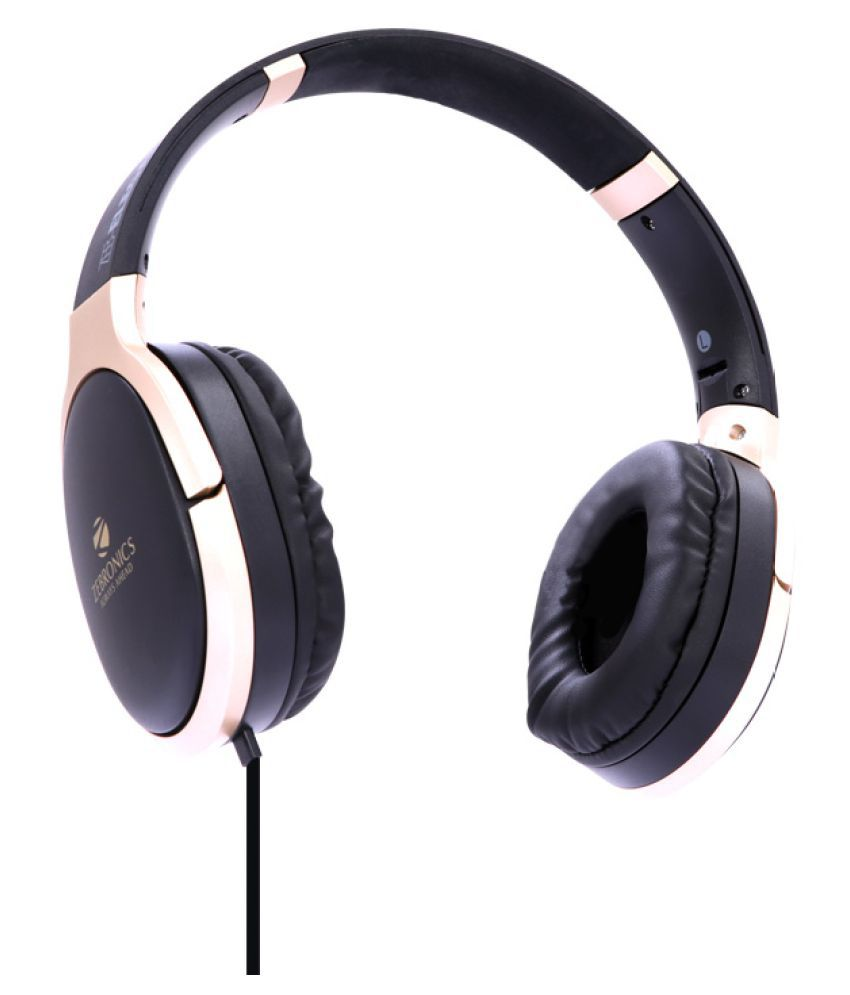 Zebronics Zeb Elegance Over Ear Wired With Mic Headphones/Earphones