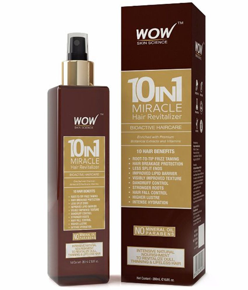 WOW Skin Science 10-in-1 Miracle Hair Revitalizer (No Mineral Oil & Parabens) 200 mL