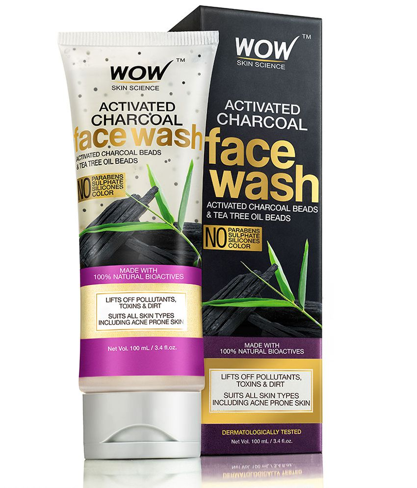 WOW Skin Science Activated Chaorcoal Face Wash Tube (No Parabens
