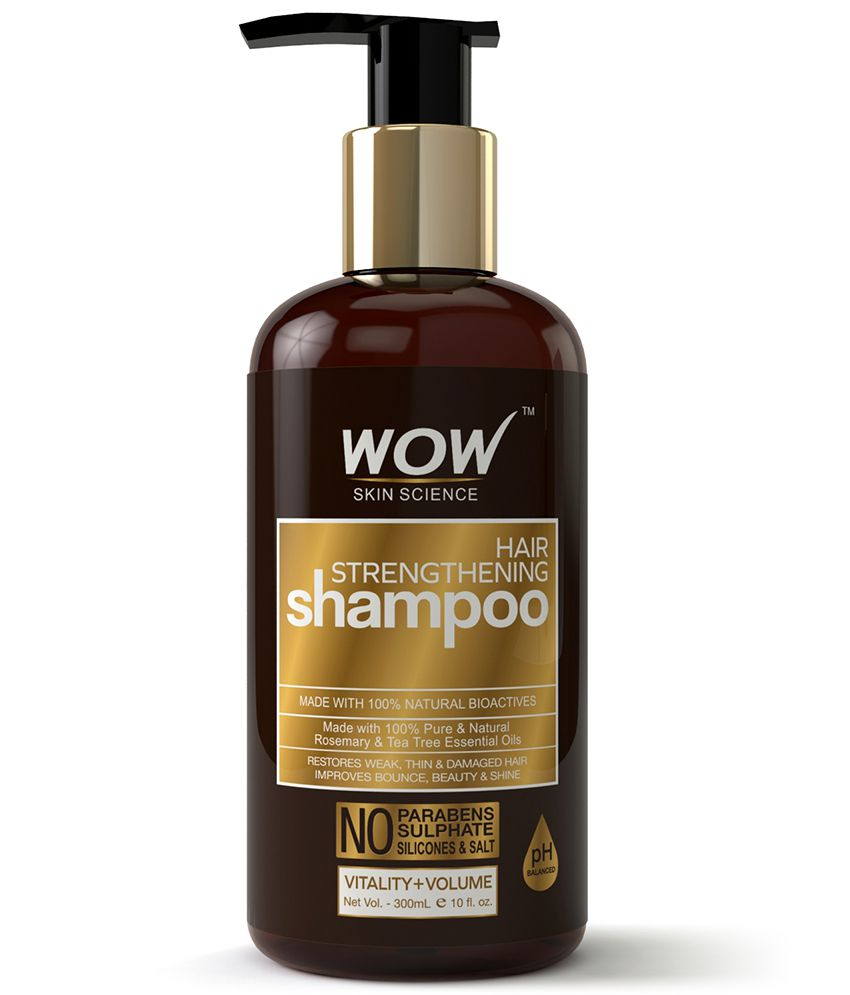 WOW Skin Science Hair Strengthening Shampoo (Hypoallergenic; Paraben & Sulphate Free) 300 mL