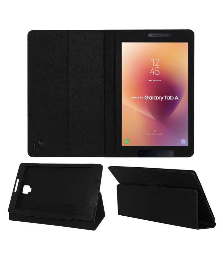 Samsung Galaxy Tab A 8.0 Sm T385 Flip Cover By FASTWAY Black