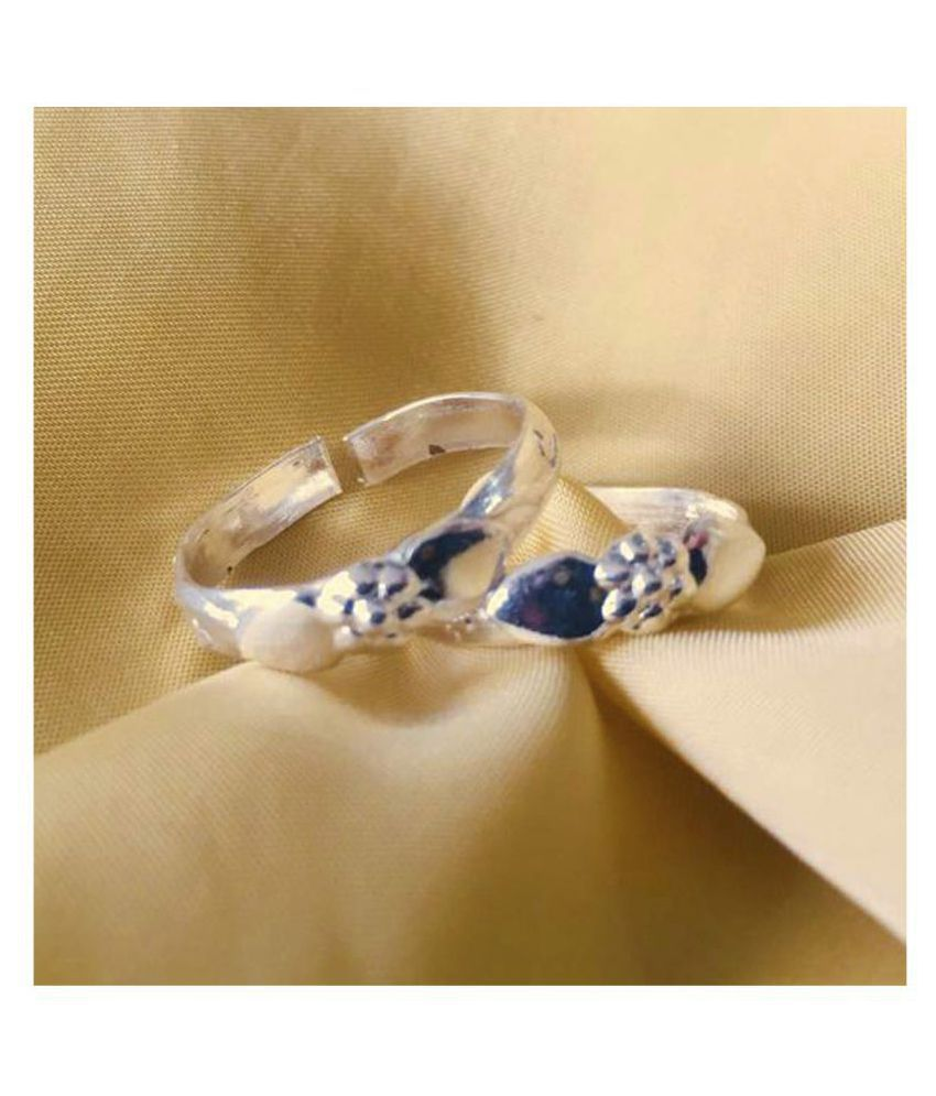 Toe Ring Sterling Silver Abstract Pattern Design Toe Ring Adjustable Jewelry for Women. 002