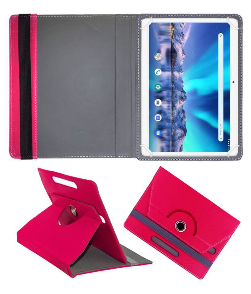 Lava Magnum Xl 10.1 Flip Cover By FASTWAY Pink
