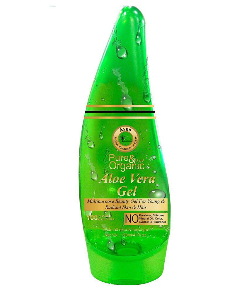Avnii Organics Avnii Aloe Vera Gel Great for Acne Day Cream 120 ml