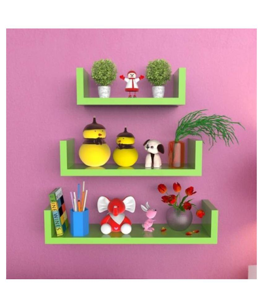 Stylish Wall Shelf Set Of 3-Ws38